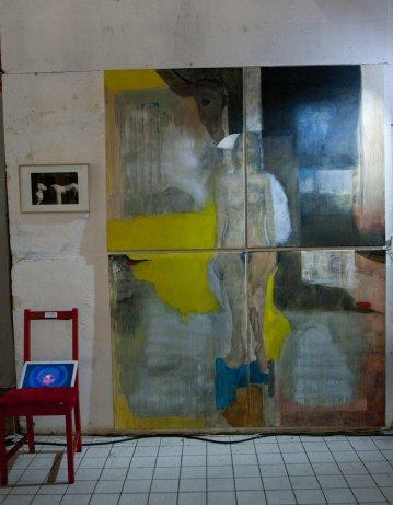 Peinture et installation de Maria Clark